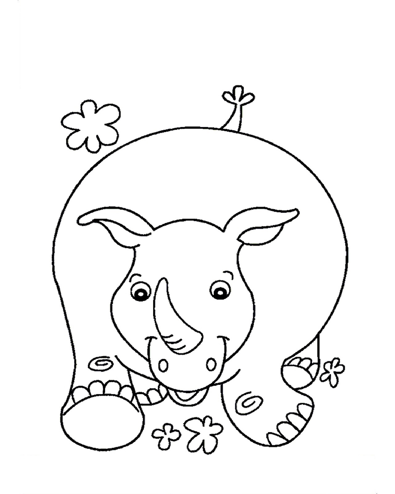 Rhino Coloring Pages For Child
