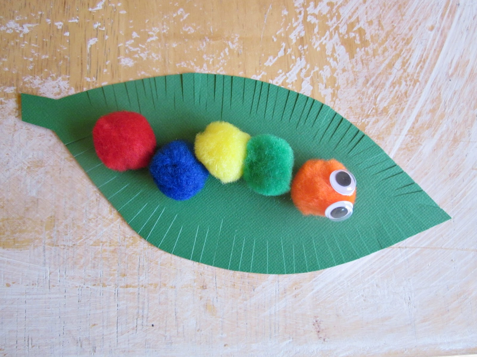 Hungry Caterpillar Carft Idea For Kindergarten