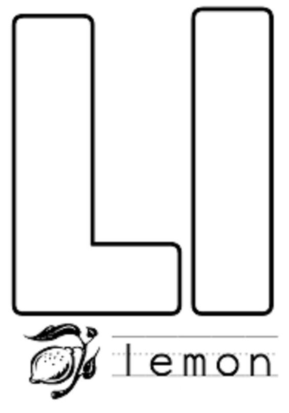 Coloring Pages Letter