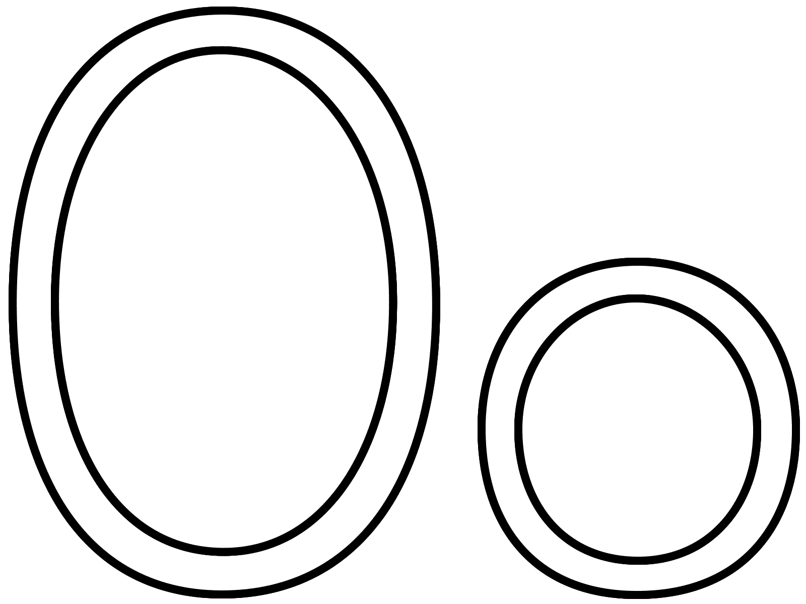 Letter O Coloring Pages For Kids