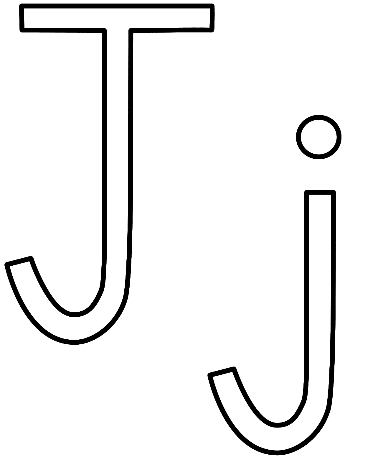 Letter J Coloring