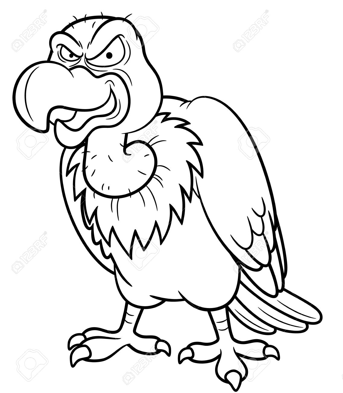 Vulture Coloring Pages