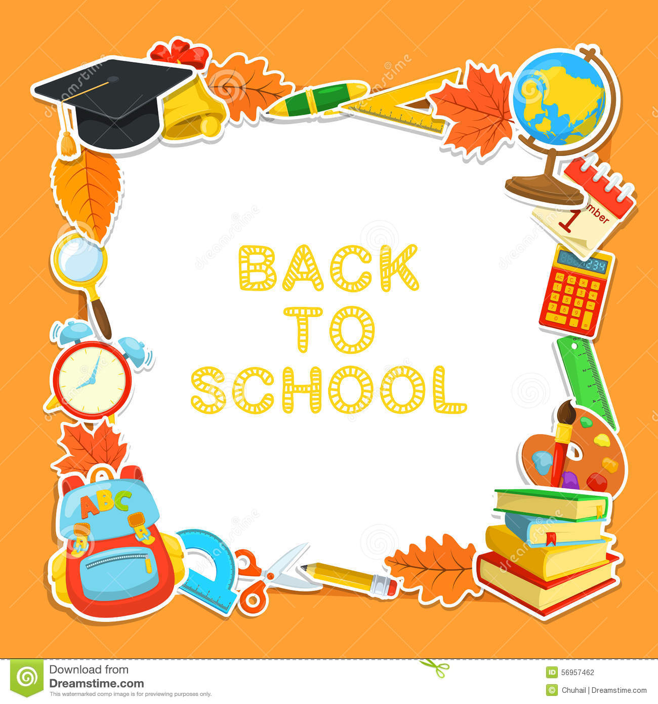 Welcome Back To School Education Background Design