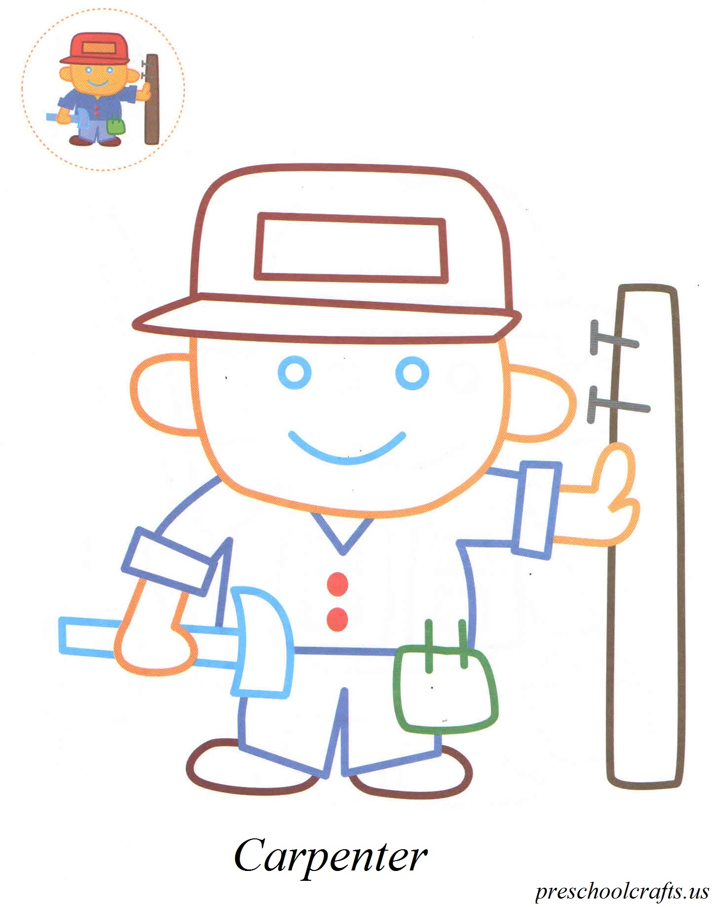 Carpenter Coloring Pages