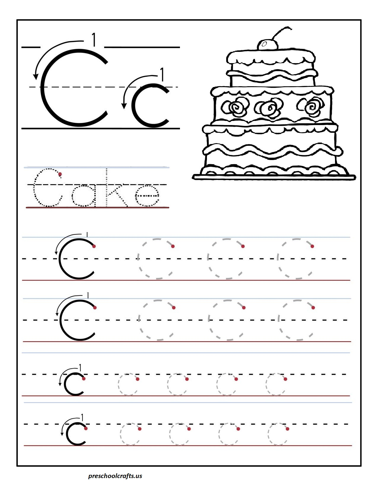 Printable Letter Worksheets H