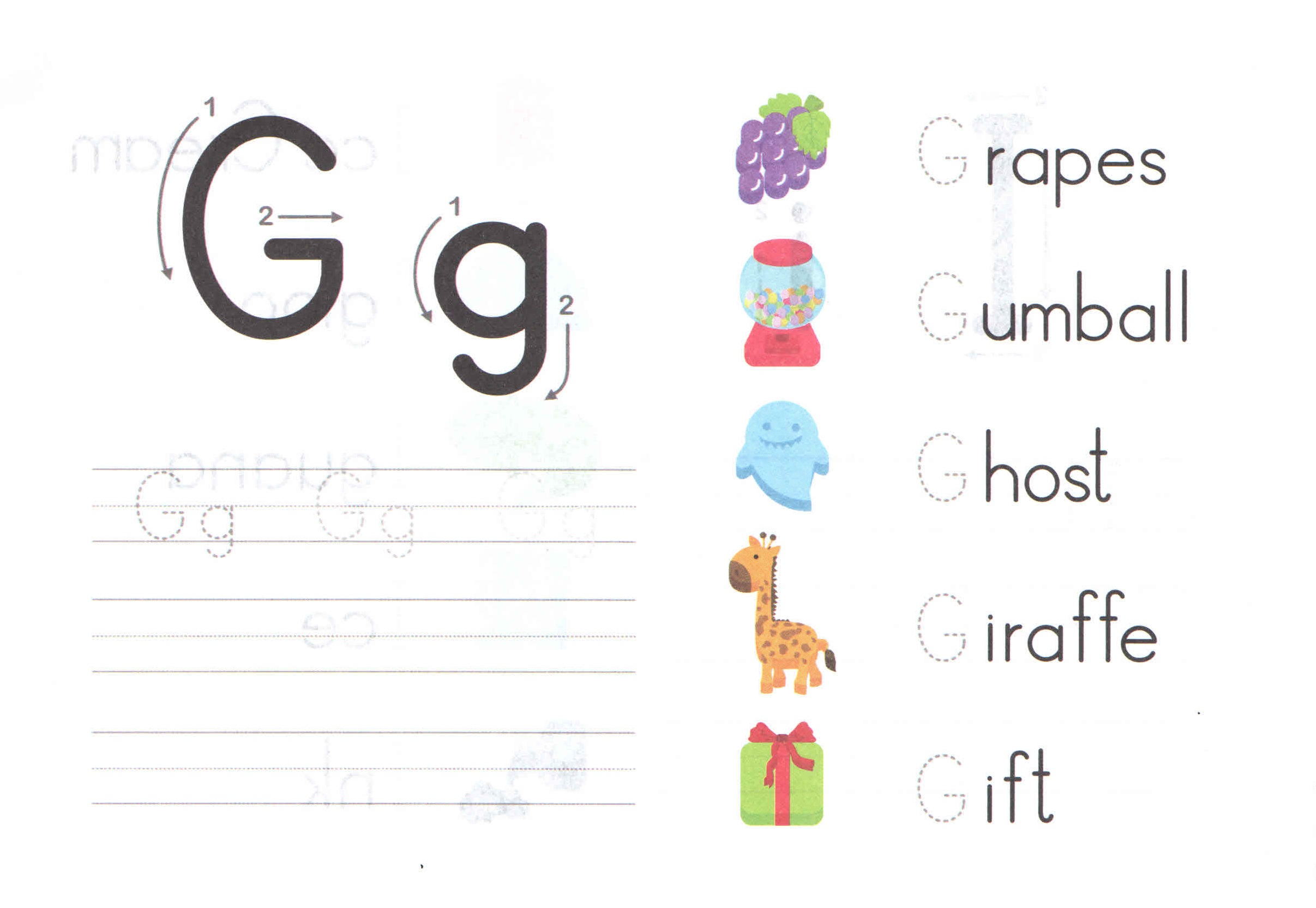 Alphabet Capital And Small Letter G G Worksheet For Kids