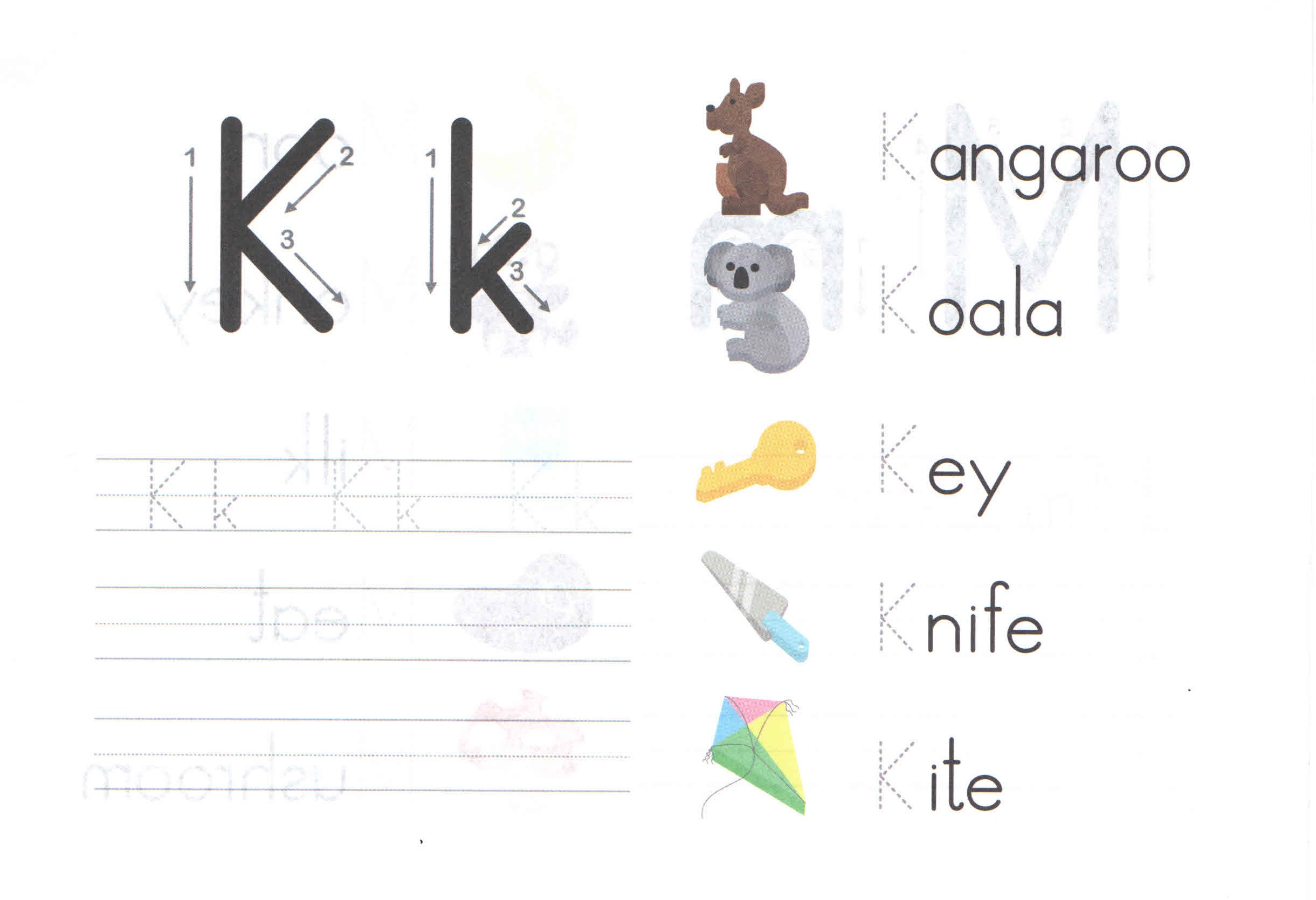 Alphabets K For Kids