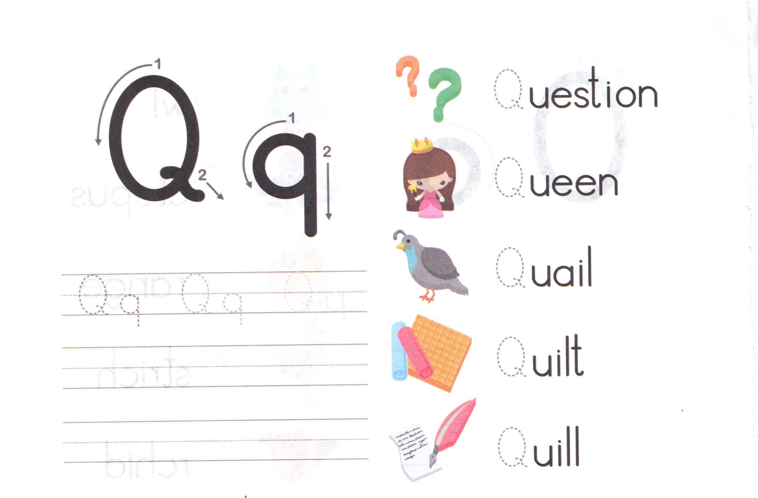 Alphabets Q For Kids