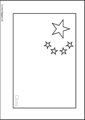chinese flag chinese national day coloring pages for kids china