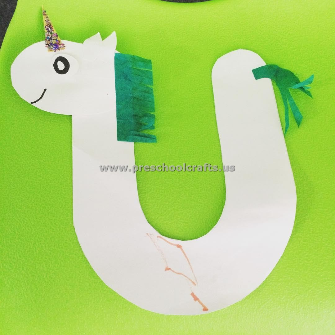 Alphabet Crafts Letter U Crafts For Preschool