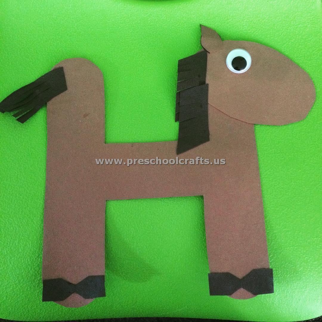 Letter H Crafts For Kindergarten