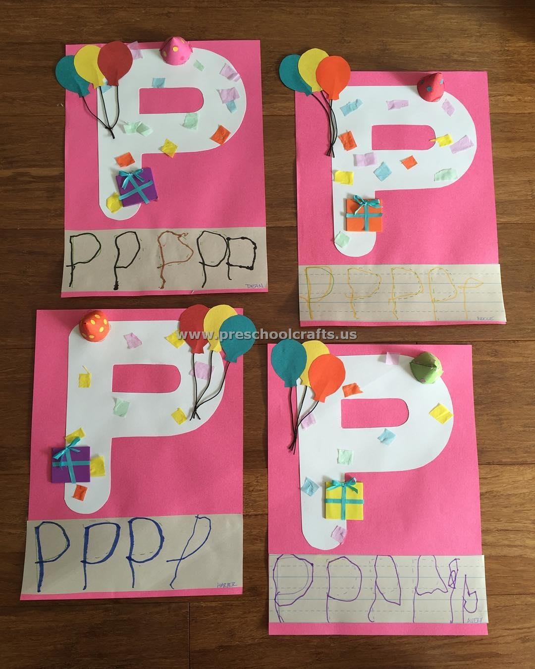 Letter P Crafts For Kids