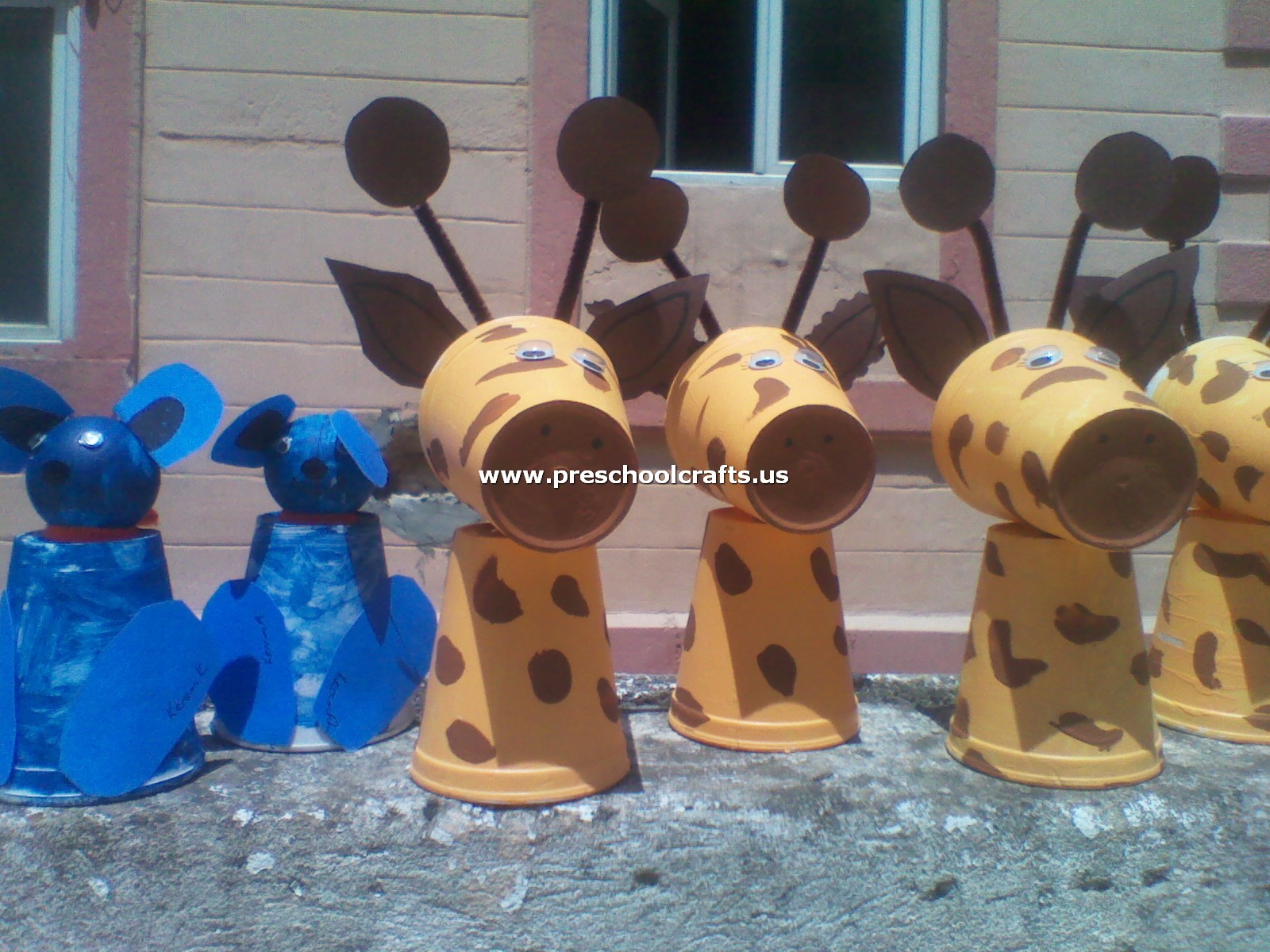 Dog Craft And Giraffe Craft From Paper Cup