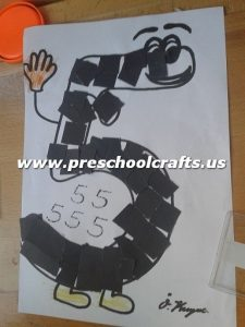Number 5 Five Craft Ideas For Kids Preschool And