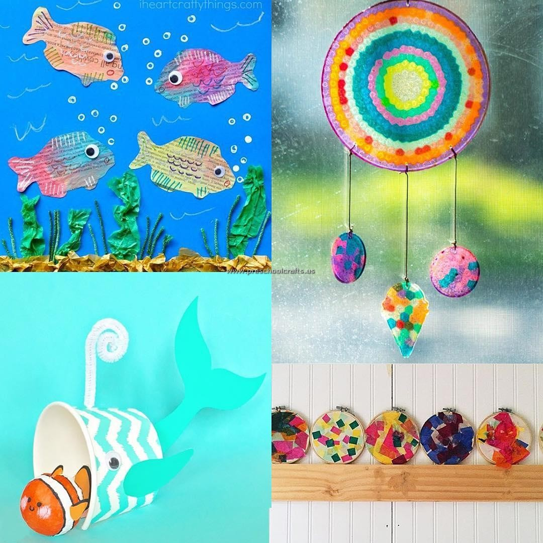 Kindergarten Fish Crafts Ideas