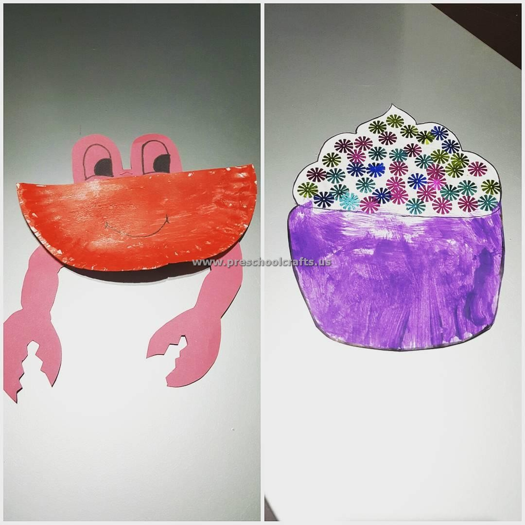 Paper Plate Crab Crafts Ideas