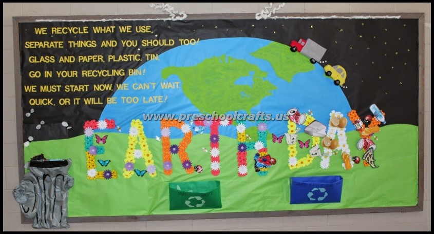 Happy Earth Day Bulletin Boards For Kids Preschool And