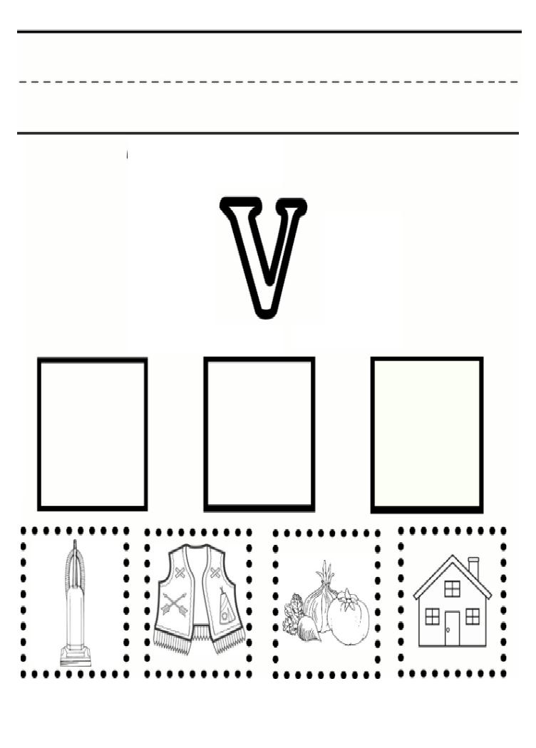 Lowercase Letter V Practice Worksheet