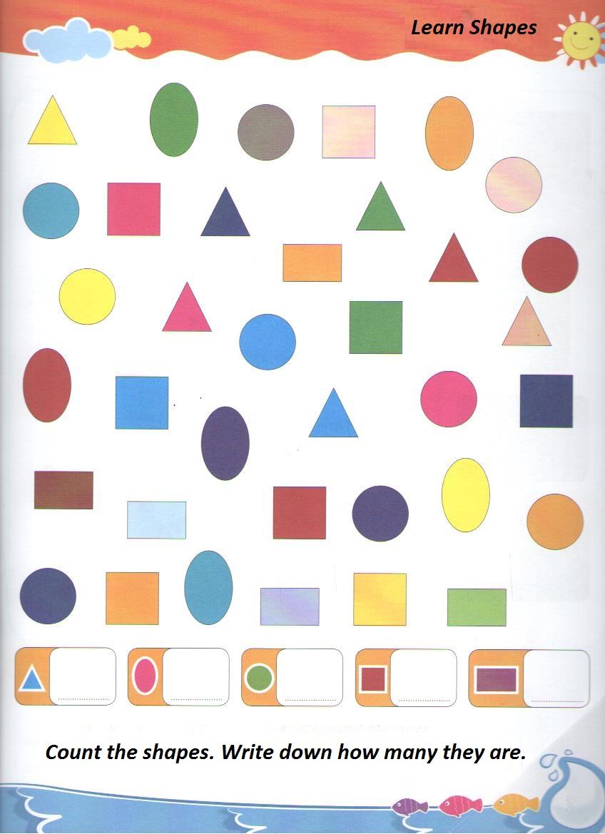Shapes Worksheets For Preschool And Kindergartenpreschool