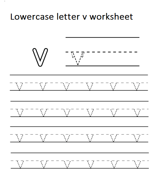 Lowercase Letter V Worksheets