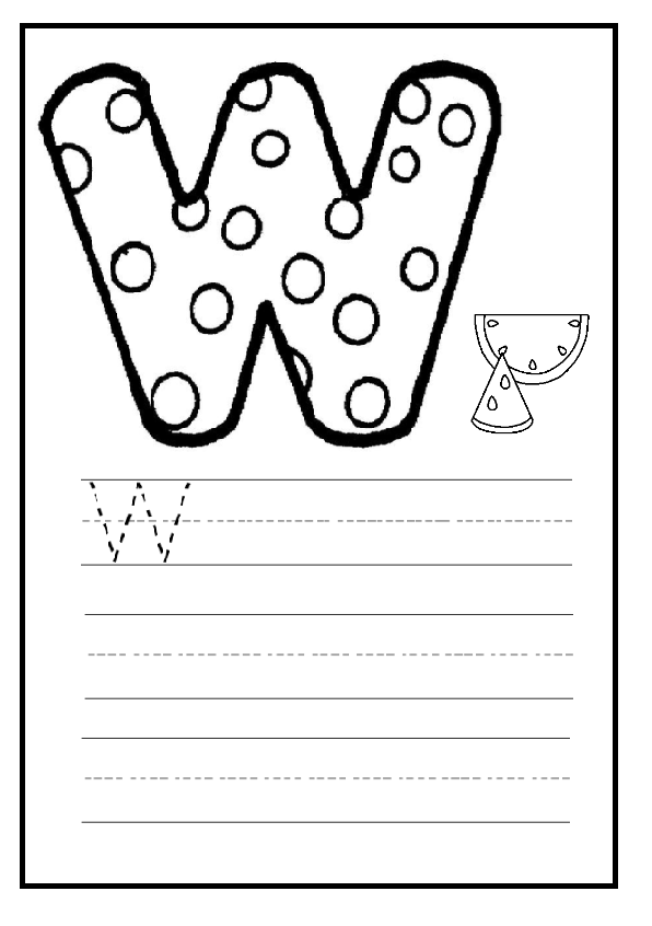 Upper Case Letter W Worksheet For Preschool And