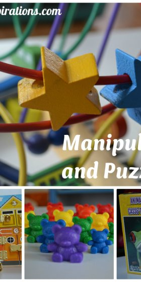 Preschool Supplies for Back to School — Manipulatives and Puzzles