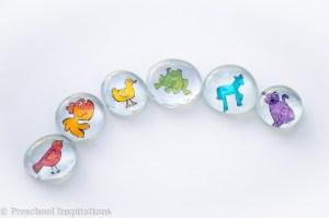 Brown Bear Inspired Glass Beads - Preschool Inspirations-5