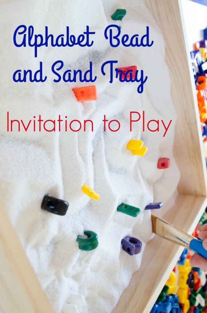 Alphabet Sand Tray Loose Pieces Play by Preschool Inspirations by Preschool Inspirations