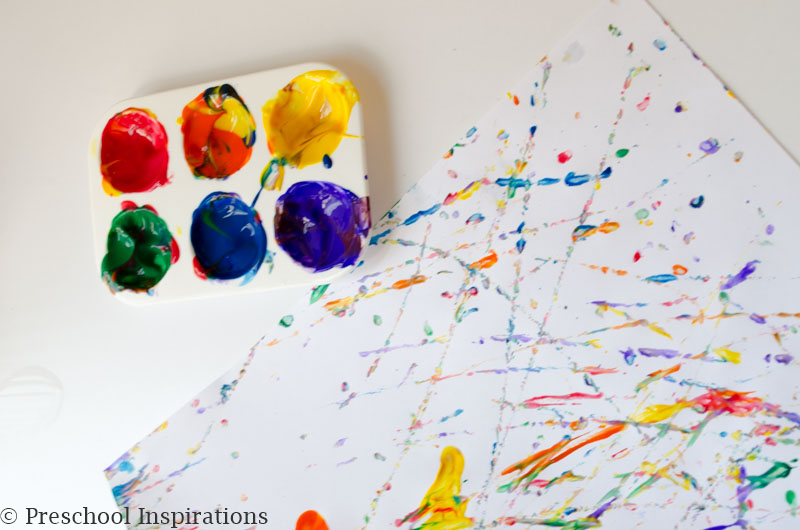Rainbow Marble Painting Process Art by Preschool Inspirations-10