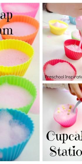 Soap Foam Cupcake Station