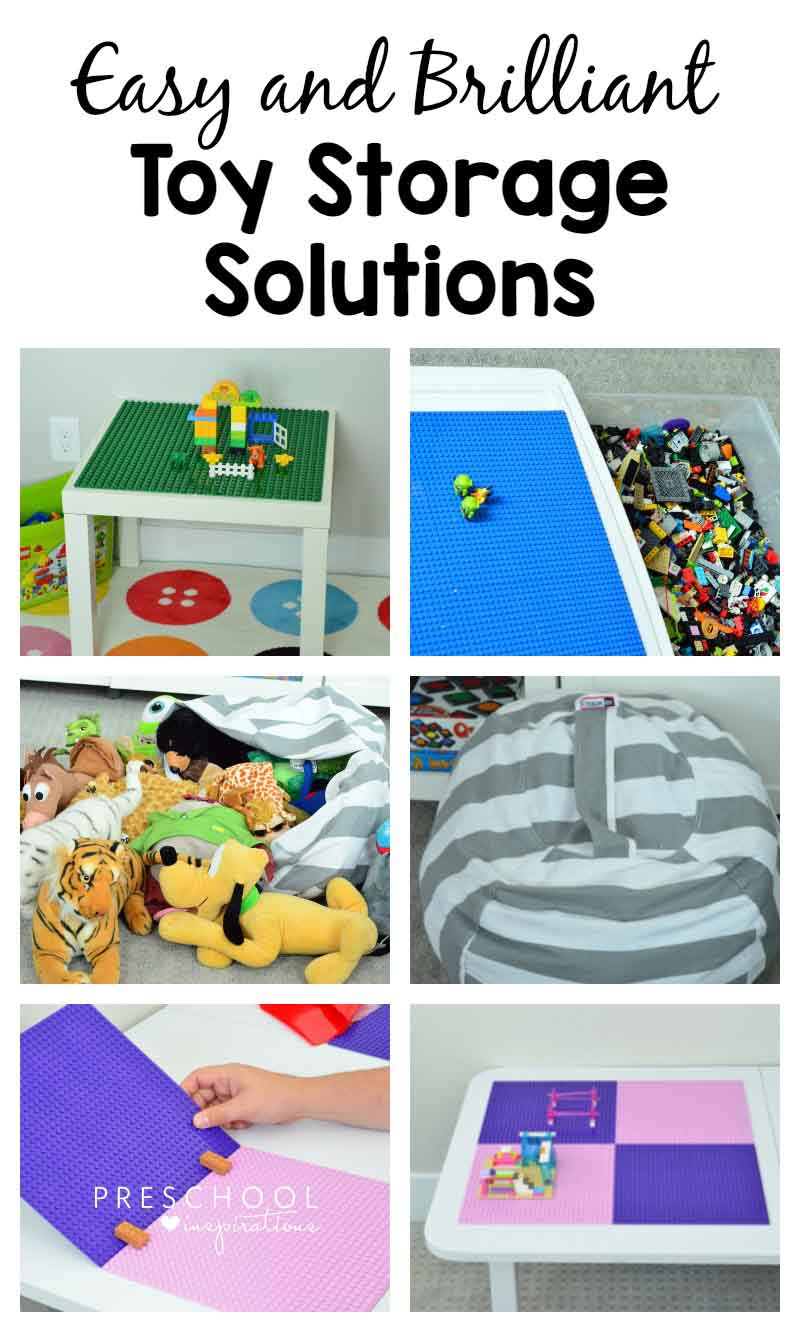 Easy and Brilliant Toy Storage and Organization Solutions for Legos, stuffed animals, and cars