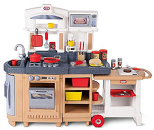 Little tikes play kitchen sets reviews and benefits for kids.