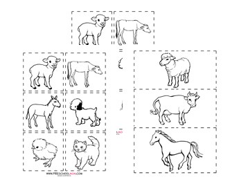 photograph relating to Animal Matching Game Printable known as Farm Preschool Printables - Preschool Mother