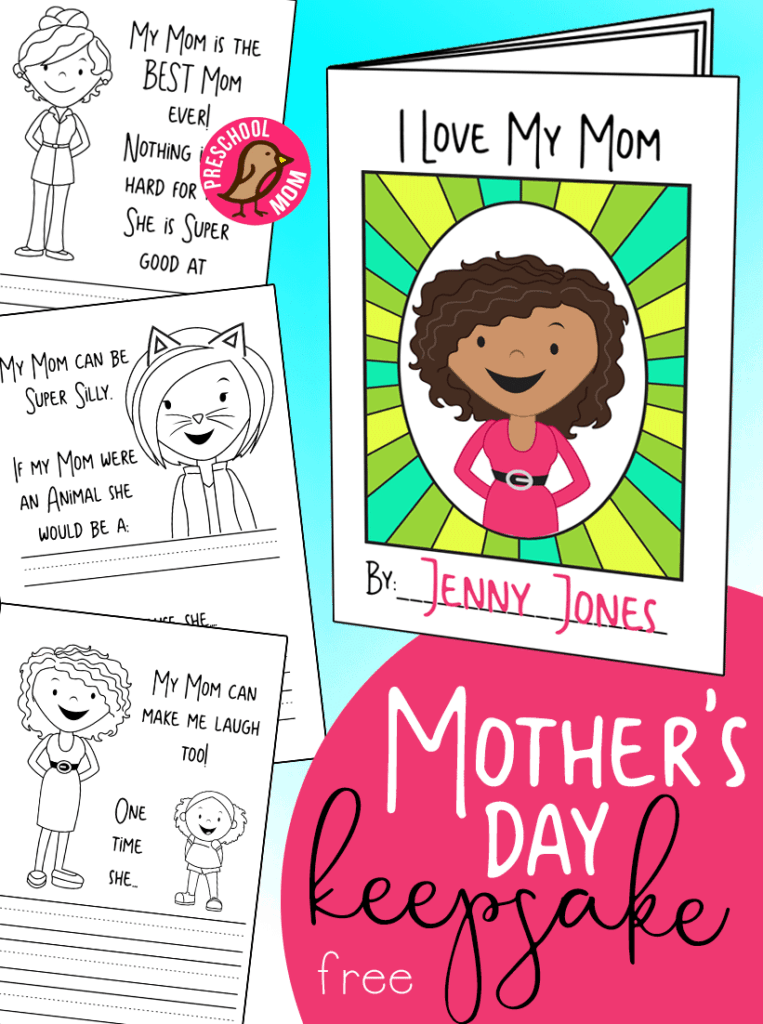 picture regarding Free Printable Mothers Day Crafts named Moms Working day Preschool Printables - Preschool Mother