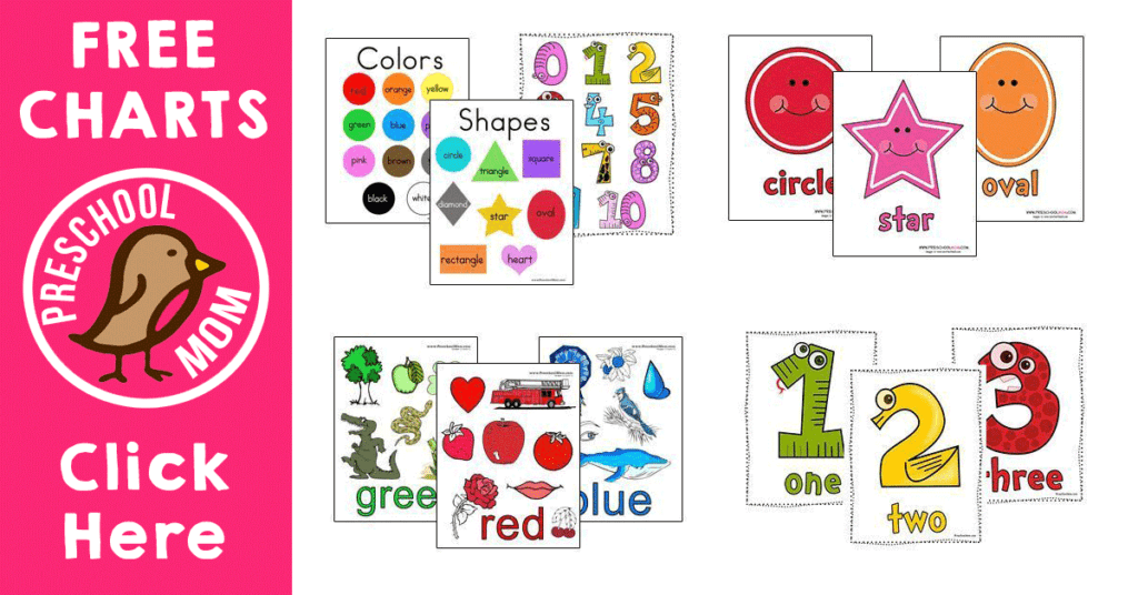 graphic regarding Shape Bingo Printable named Form Preschool Printables - Preschool Mother