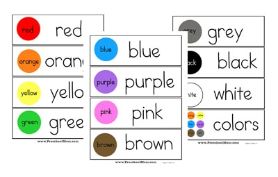 picture about Color Words Printable referred to as Absolutely free Printable Wordwall Playing cards - Preschool Mother