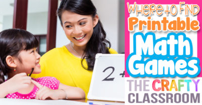 Where to Find Printable Math Games
