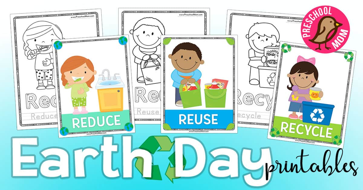 picture about Recycle Labels Printable named Entire world Working day Preschool Printables - Preschool Mother