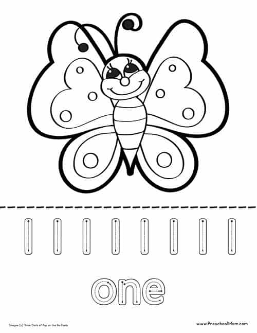 Easy Butterfly Coloring Pages : butterfly, coloring, pages, Butterfly, Coloring, Pages, Preschool
