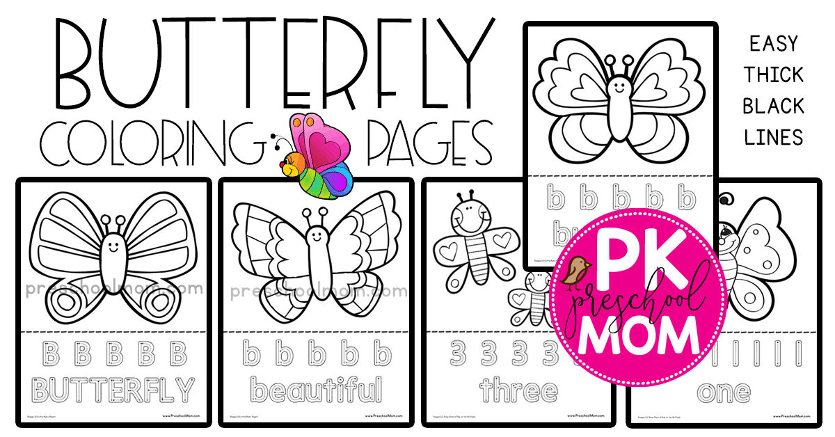 Butterfly Preschool Printables - Preschool Mom