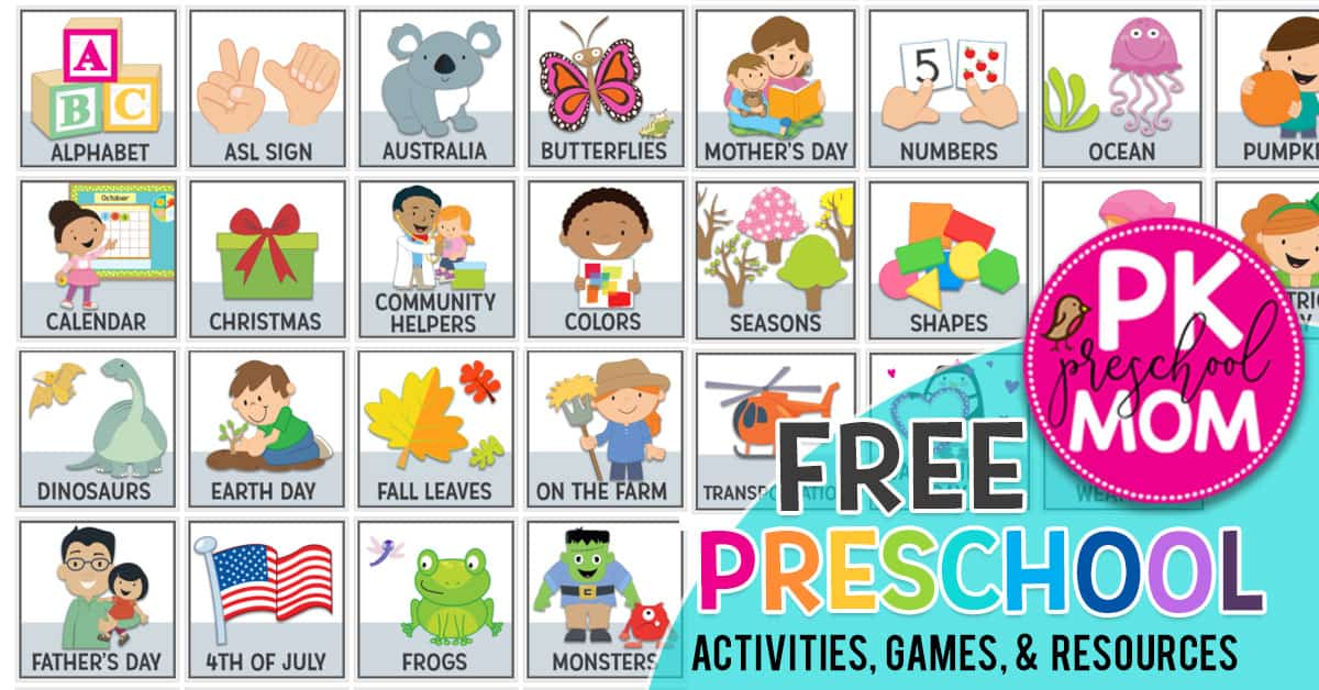 Free Preschool Worksheets & Printables - Preschool Mom