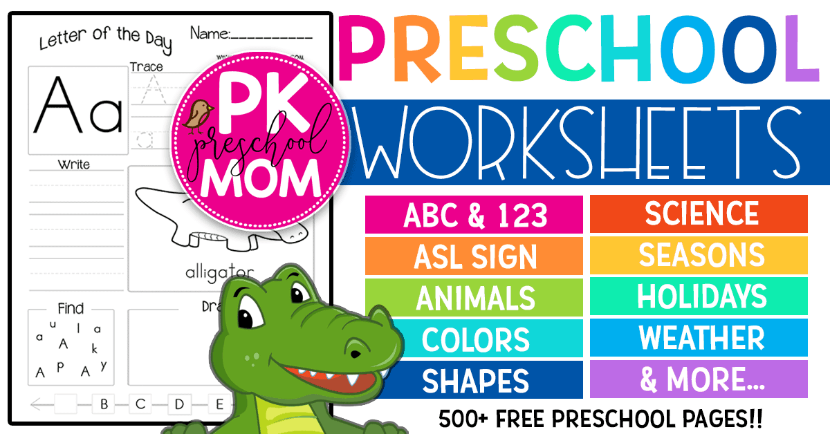 Kindergarten Mom Worksheets