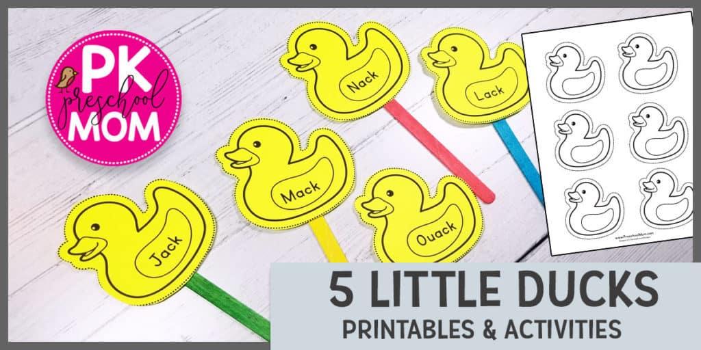5 Little Ducks - Preschool Mom