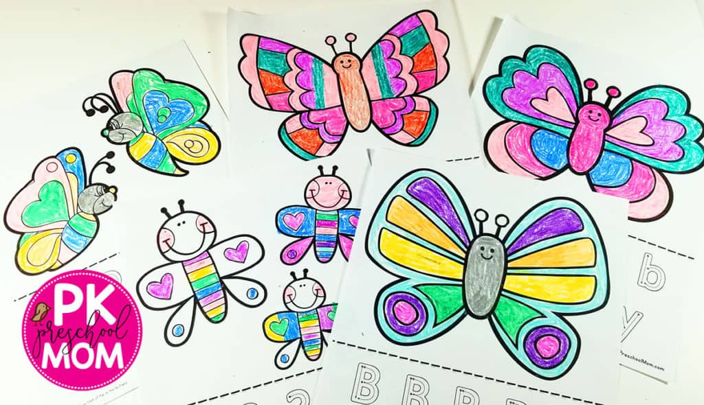Easy Butterfly Coloring