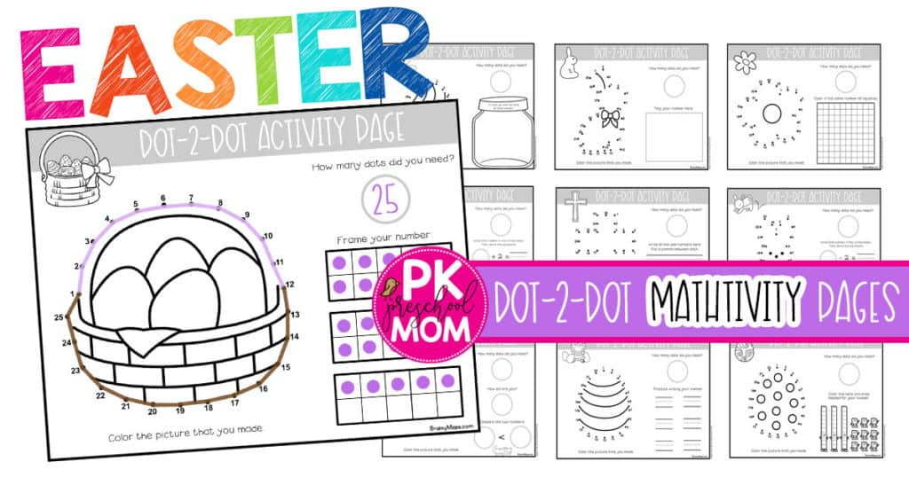 Easter Dot To Dot Preschool Worksheets - Preschool Mom