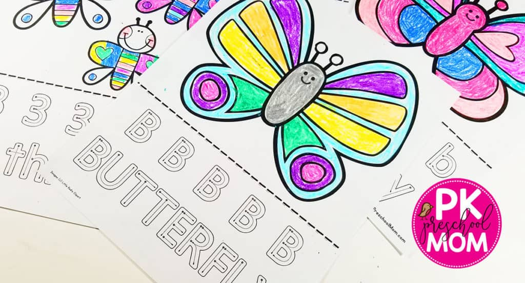 Preschool Butterfly Coloring