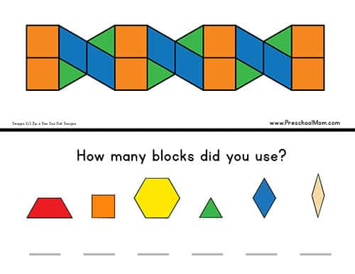 graphic relating to Printable Pattern Blocks referred to as Behavior Block Templates - Preschool Mother