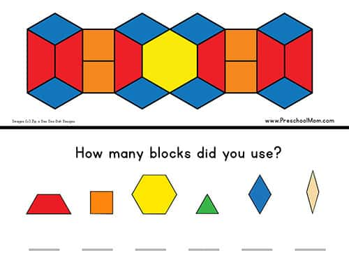 photo about Printable Pattern Block named Practice Block Templates - Preschool Mother