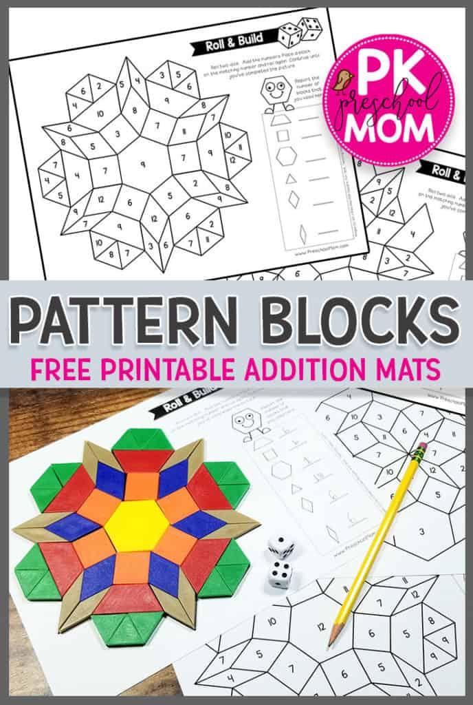 image about Pattern Blocks Printable titled Habit Block Images - Preschool Mother