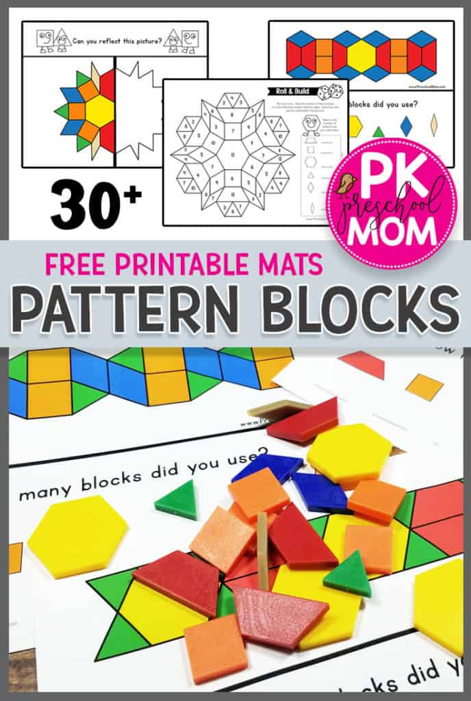 photograph relating to Printable Pattern Block Templates identify Behavior Blocks - Preschool Mother